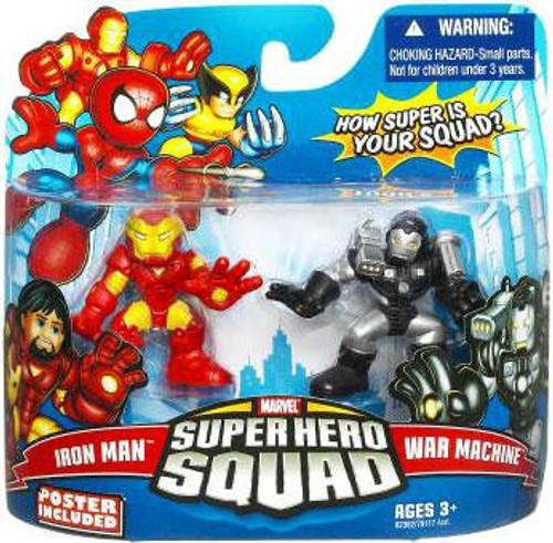 Marvel Super Hero Squad Series 16 Iron Man & War Machine Action Figure 2-Pack