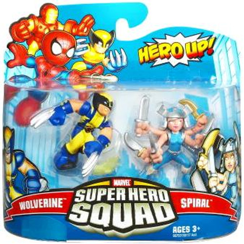 Marvel Super Hero Squad Series 16 Wolverine & Spiral Action Figure 2-Pack