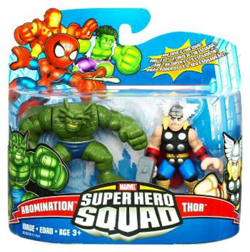 Marvel Super Hero Squad Series 17 Thor & Abomination Action Figure 2-Pack