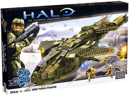 Mega Bloks Halo The Authentic Collector's Series UNSC Pelican Dropship Set #96824
