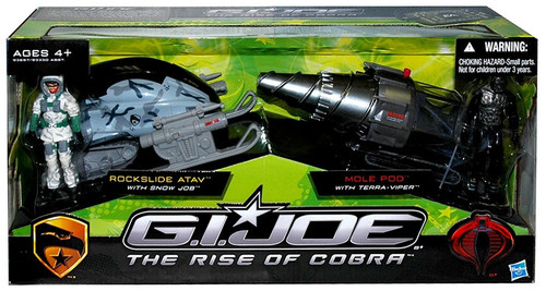 GI Joe The Rise of Cobra Rockslide ATAV & Mole Pod Exclusive Action Figure Vehicle