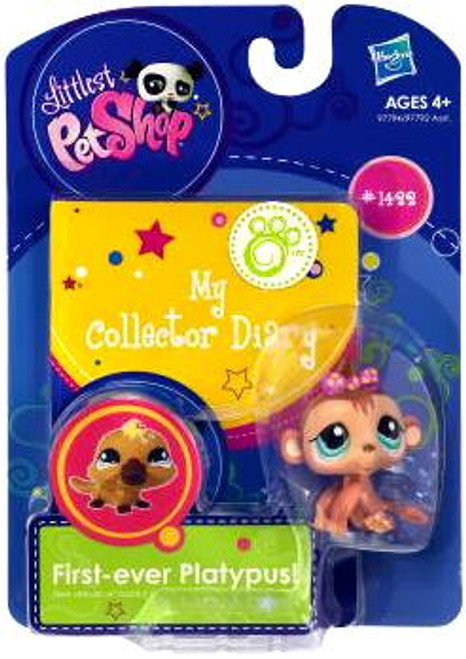 Littlest Pet Shop My Collector Diary Baby Monkey Figure #1422