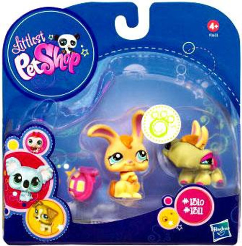 Littlest Pet Shop 2010 Assortment A Series 1 Bunny & Turtle Figure 2-Pack #1310, 1311 [Bunny Ears & Shell]