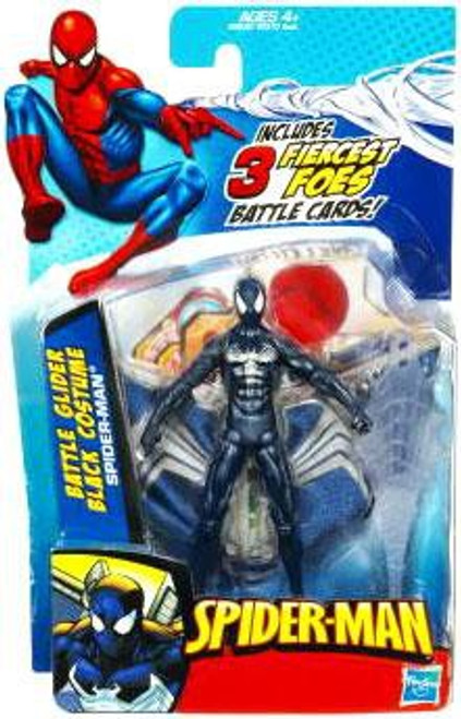 Spider-Man 2010 Black Spider-Man with Glider Action Figure