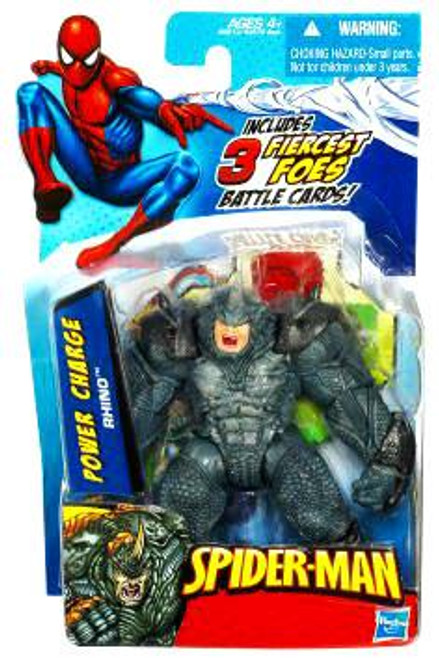 Spider-Man 2010 Power Charge Rhino Action Figure