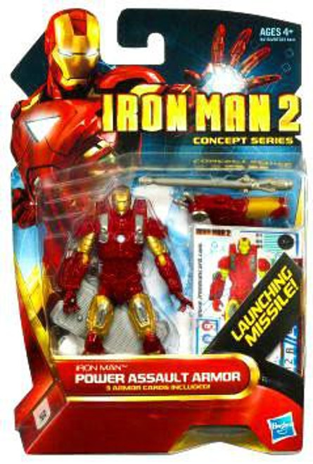 Iron Man 2 Concept Series Power Assault Armor Iron Man Action Figure #14