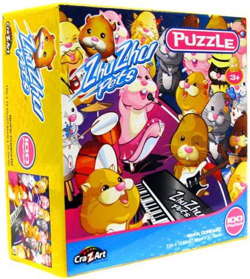 Zhu Zhu Pets Rock Concert Puzzle [100 pieces]