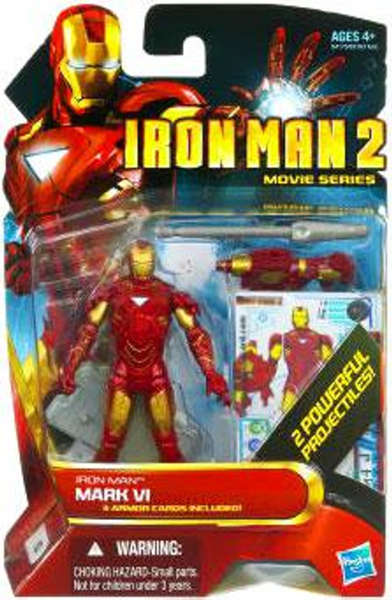 Iron Man 2 Movie Series Iron Man Mark VI Action Figure #10 [Random Color]