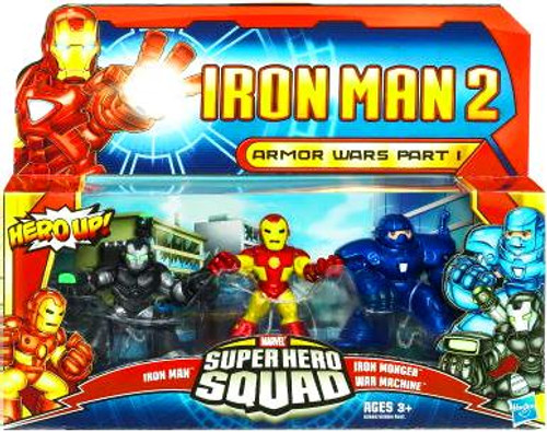 Iron Man 2 Superhero Squad Armor Wars Part I Action Figure 3-Pack