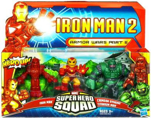 Iron Man 2 Superhero Squad Armor Wars Part II Action Figure 3-Pack