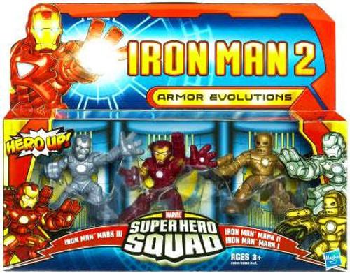 Iron Man 2 Superhero Squad Armor Evolutions Action Figure 3-Pack