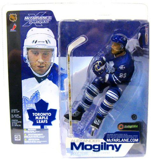 McFarlane Toys NHL Toronto Maple Leafs Sports Picks Series 3 Alexander Mogilny Action Figure [Blue Jersey Variant]