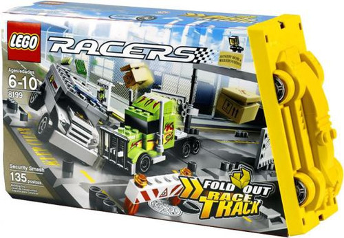 LEGO Racers Fold Out Race Tracks Security Smash Set #8199