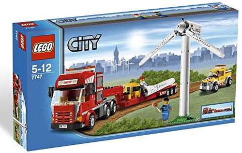 LEGO City Wind Turbine Transport Exclusive Set #7747
