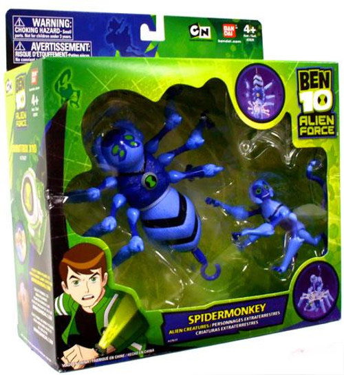 Ben 10 Alien Creatures Spidermonkey Vehicle Action Figure Set