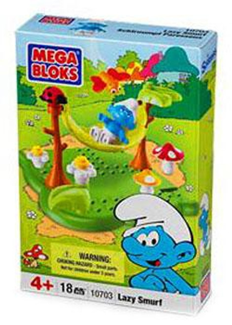 Mega Bloks The Smurfs Lazy Smurf Set #10703