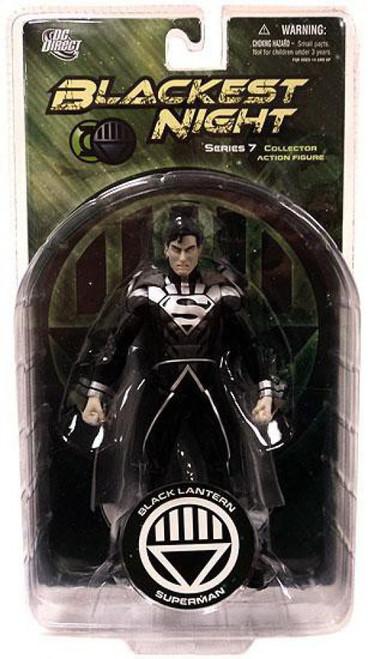 DC Green Lantern Blackest Night Series 7 Black Lantern Superman Action Figure