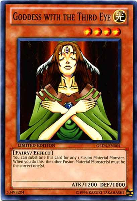 YuGiOh Gold Series 4 2011 Common Goddess with the Third Eye GLD4-EN004