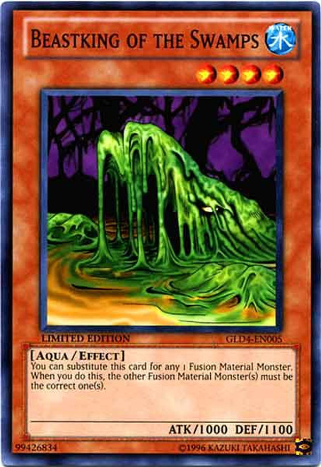 YuGiOh Gold Series 4 2011 Common Beastking of the Swamps GLD4-EN005