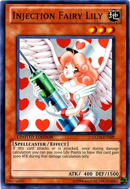 YuGiOh Gold Series 4 2011 Common Injection Fairy Lily GLD4-EN009