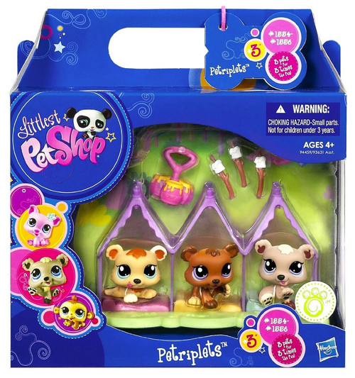 Littlest Pet Shop Petriplets Bears Figure 3-Pack #1884, 1885, 1886
