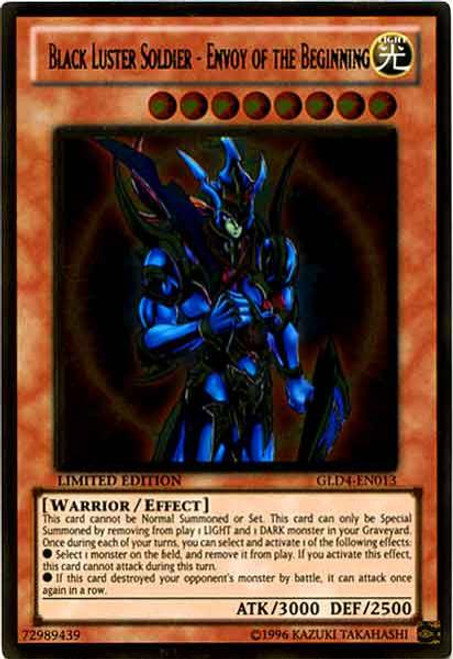 YuGiOh Gold Series 4 2011 Gold Rare Black Luster Soldier - Envoy of the Beginning GLD4-EN013