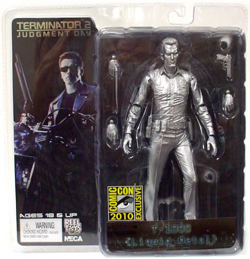 NECA The Terminator Terminator 2 Judgment Day T-1000 Exclusive Action Figure [Liquid Metal]