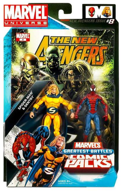 Marvel Universe Marvel's Greatest Battles Comic Packs Sentry & Spider-Man Action Figure 2-Pack