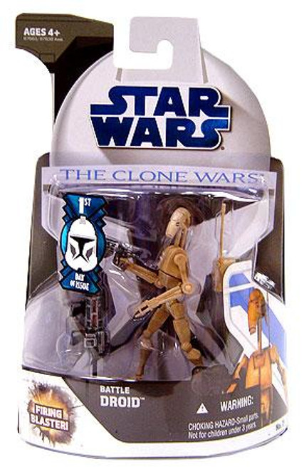 Star Wars The Clone Wars Clone Wars 2008 Battle Droid Action Figure #7 [First Day of Issue]