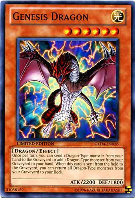 YuGiOh Gold Series 4 2011 Common Genesis Dragon GLD4-EN028