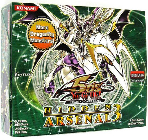 YuGiOh Hidden Arsenal 3 Booster Box [24 Packs] [Sealed]