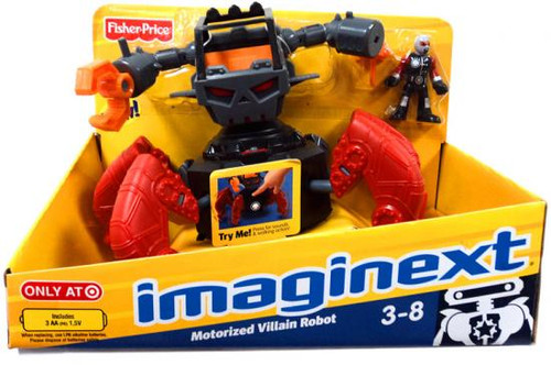 Fisher Price Imaginext Motorized Villain Robot Exclusive Action Figure
