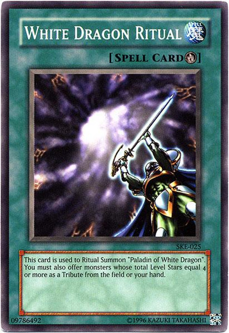 YuGiOh Kaiba Evolution Common White Dragon Ritual SKE-025