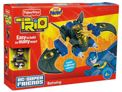 Fisher Price Trio DC Super Friends Batwing Playset
