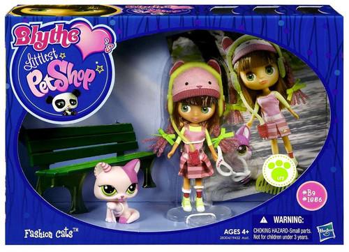 Littlest Pet Shop Blythe Loves Blythe's Sitters Fashion Cats Figure Set #39, 1986