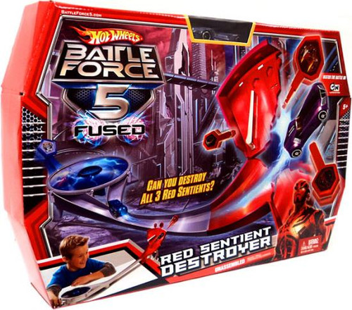 Hot Wheels Battle Force 5 Fused Red Sentient Destroyer Playset