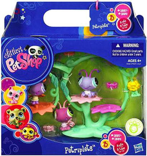 Littlest Pet Shop Petriplets Butterflies Figure 3-Pack