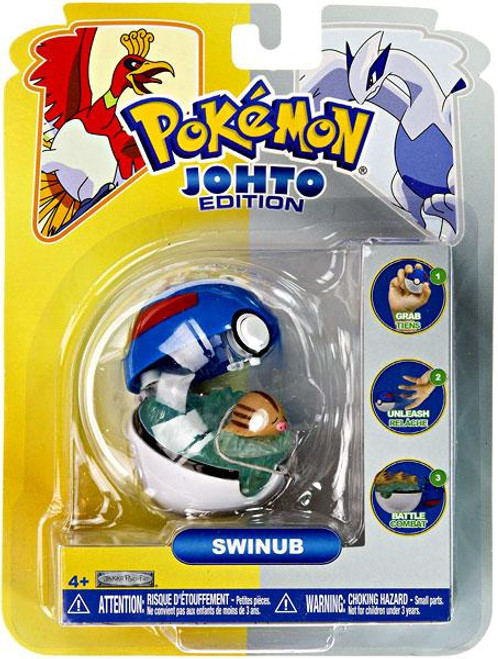 Pokemon Johto Edition Pop n Battle Swinub Pokeball