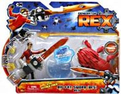 "Generator Rex Evo Attack Pack Rex Action Figure [Big Fat Sword ""BFS""]"