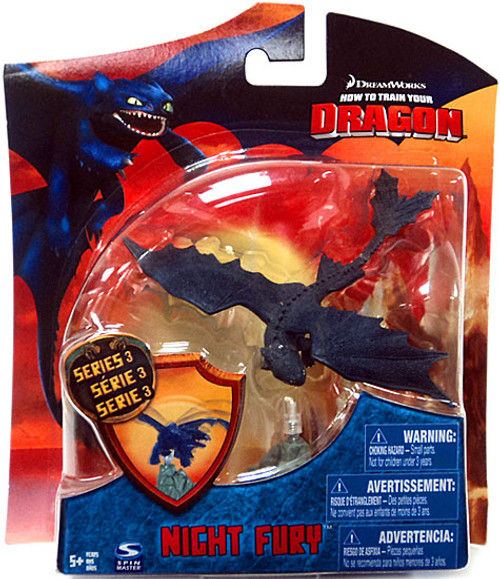 How to Train Your Dragon Series 3 Night Fury Action Figure [Toothless]