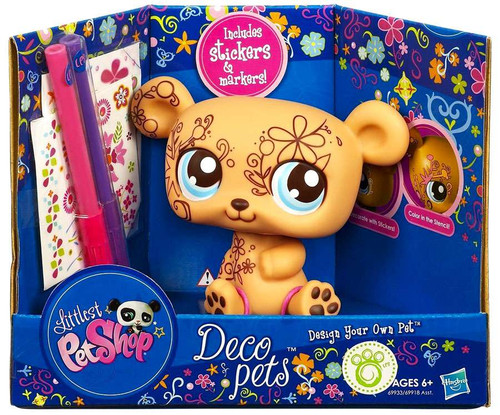 Littlest Pet Shop Deco Pets Bear Figure [Brown]