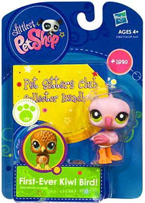 Littlest Pet Shop Pet Sitters Club Collector Handbook Flamingo Figure #1890