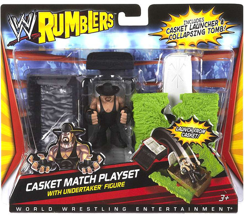 WWE Wrestling Rumblers Series 1 Casket Match Mini Figure Playset [With Undertaker]