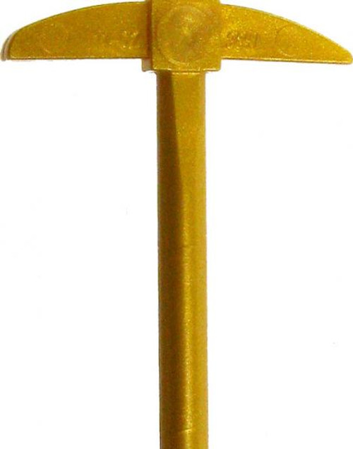 LEGO Ninjago Minifigure Parts Golden Pickaxe Loose Weapon [Loose]