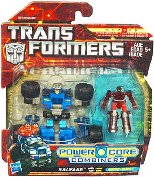 Transformers Power Core Combiners Salvage with Bombburst Action Figure 2-Pack