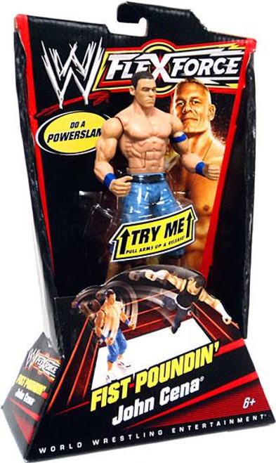 WWE Wrestling FlexForce Series 1 Fist Poundin' John Cena Action Figure [Blue Armbands]