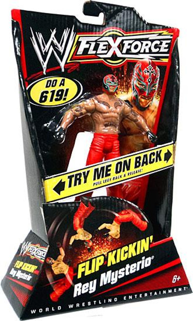 WWE Wrestling FlexForce Series 1 Flip Kickin' Rey Mysterio Action Figure