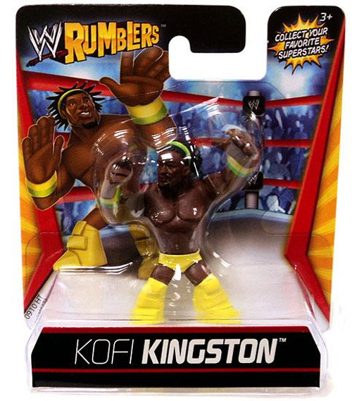 WWE Wrestling Rumblers Series 1 Kofi Kingston Mini Figure [Yellow Outfit]