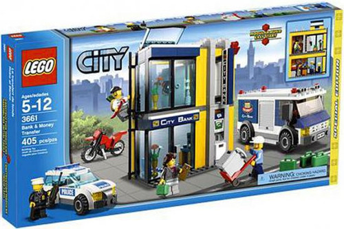 LEGO City Bank & Money Transfer Exclusive Set #3661