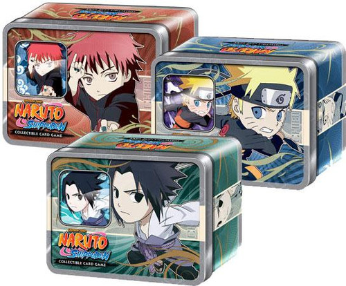 Naruto Shippuden Card Game Set of 3 Ultimate Battle Collector Tins [Chibi]